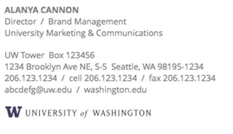 Phd Mba Signature by Email Signature Uw Brand