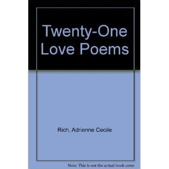 libro twenty love poems and twenty one love poems by adrienne rich reviews discussion bookclubs lists