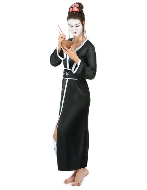 Geisha Dres 2 geisha kimono costume for adults costumes and fancy dress costumes vegaoo