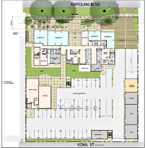 hawaii convention center floor plan new construction profile kapiolani residences