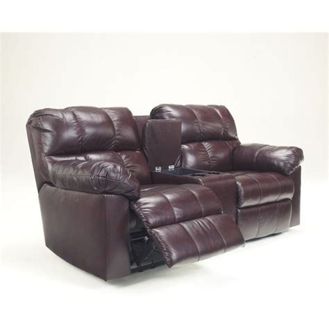 ashley double recliner ashley furniture kennard double reclining leather loveseat
