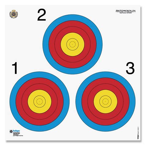 printable competition targets fita triangle target face 40 cm las vegas 8340 v 100