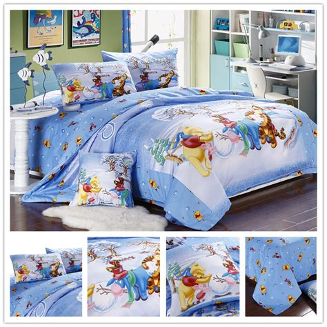 winnie the pooh bedroom sets cartoon winnie the pooh full queen king size 4pcs bedding
