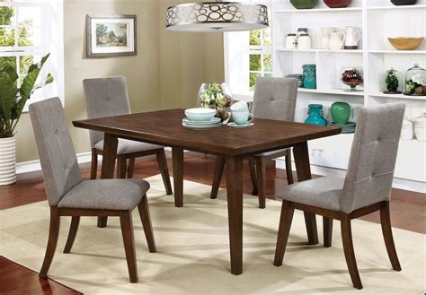 walnut dining room set abelone walnut rectangular dining room set from furniture