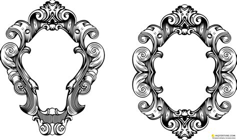 baroque pattern frame vector oval ornate frames ornate frame stock vectors