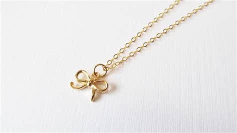 how to make gold filled jewelry gold bow necklace gold filled necklace gift for on luulla