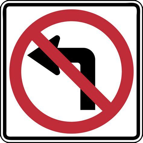 no left no left turn color clipart etc