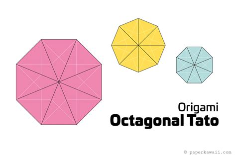 How To Make A Paper Octagon - origami octagonal tato