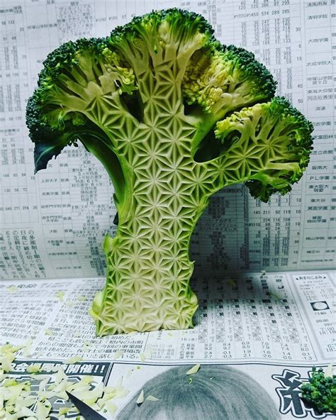 What Do You Call The Vegetable Pictured Below by Next Level Food Carving On Fruits And Vegetables By Gaku