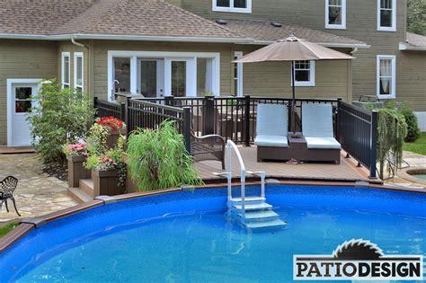patio piscine patios avec piscine hors terre les r 233 alisations de patio