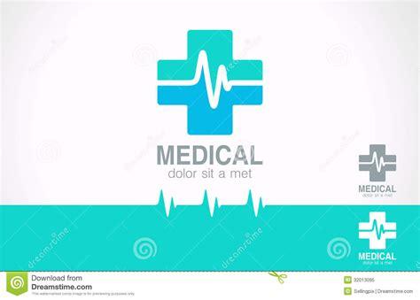 free logo design medical medicine cross logo pharmacy logotype cardiogram stock