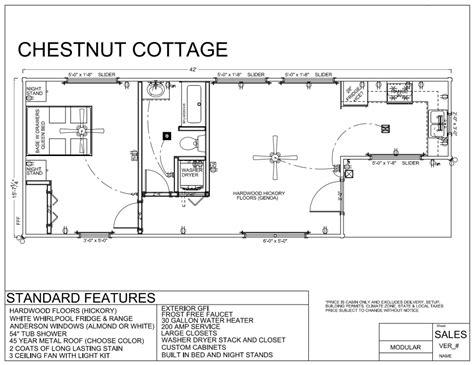 modular home floor plans nc cottage house plans 42 x 16 chestnut cottage modular log cabin mountain
