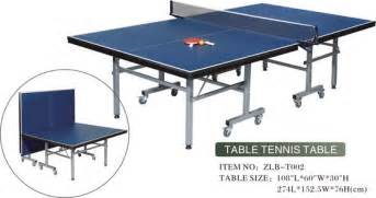 Size table tennis table product details view standard size table