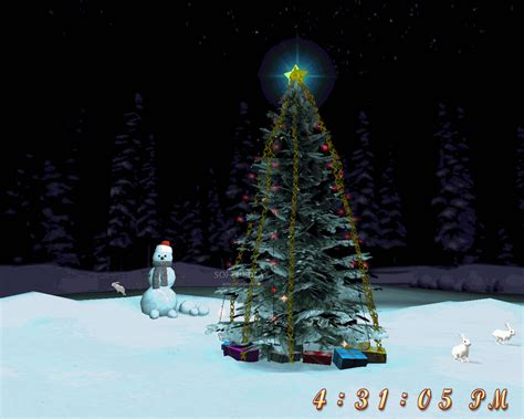free christmas tree 3d screensaver download