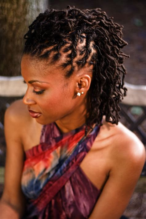 African Hair Dreadlock Styles | black women dreadlocks pulled back style thirstyroots