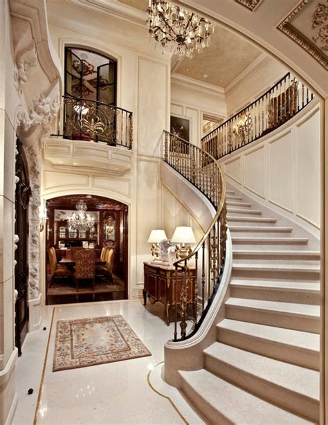 Split Level Entryway Decorating French Limestone Architectural Stone Traditional