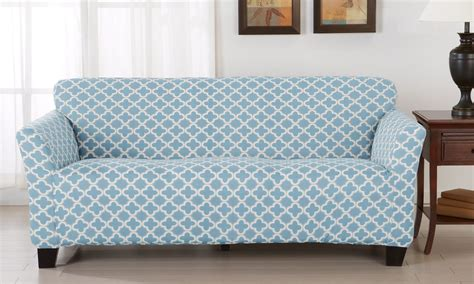 how to put on a sure fit sofa cover what is a slipcover sofa mainstays 1 piece stretch fabric