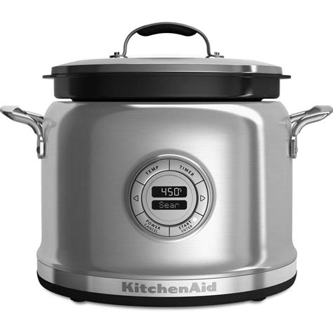 home kitchen aid kitchenaid 4 qt multi cooker kmc4241ss the home depot