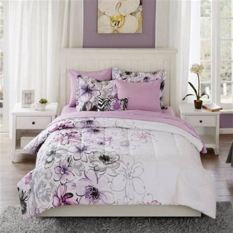 purple flower comforter set watercolor floral bedding comforter set collection full
