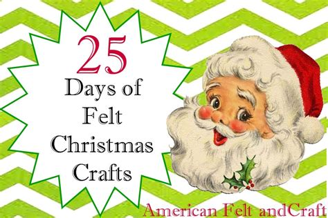 felt christmas projects crafts american felt craft