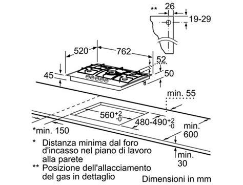 piano cottura bosch 5 fuochi piano cottura 5 fuochi bosch gas 75 cm pcq815b90e serie 6