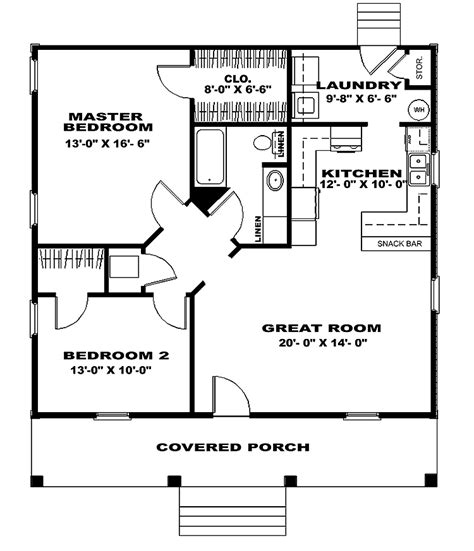 Two Bedroom House Plans by 301 Moved Permanently