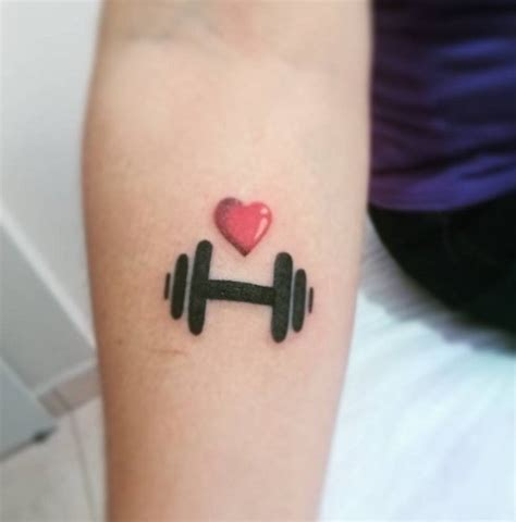 barbell tattoo barbell pictures to pin on thepinsta