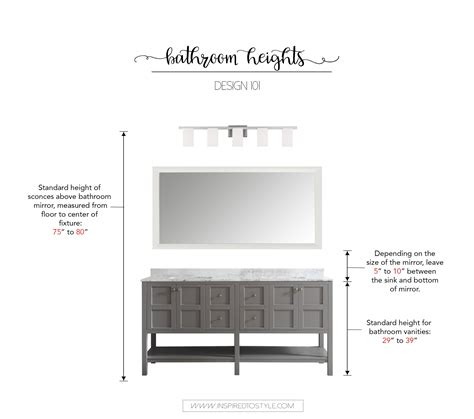 how high should a bathroom vanity be design 101 how high to place your bathroom fixtures