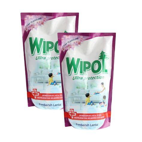 Pembersih Lantai Wipol jual wipol ultra protection pouch cairan pembersih lantai 750 ml 2 pcs harga