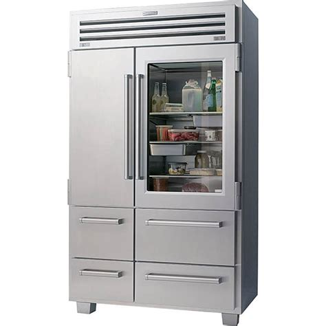 Glass Door Refrigerators Sub Zero 648prog 48 Quot Built In Side By Side Refrigerator Classic Stainless With Glass Door