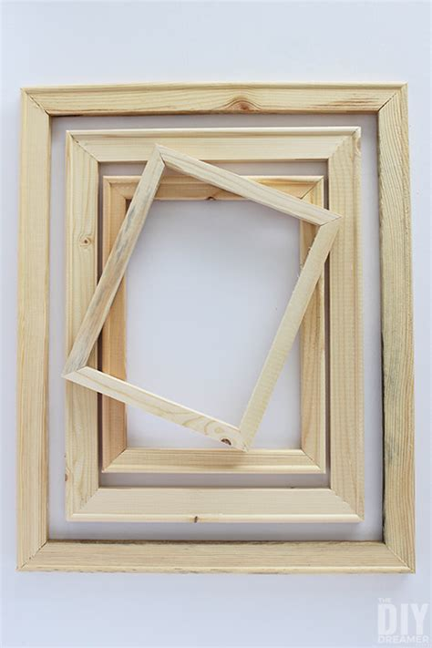 cheap wood frames  quick  easy diy
