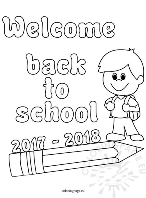 coloring page welcome to school school coloring page