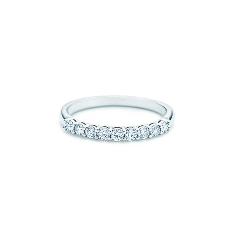 Silver Band Ring With Diamonds by Shared Setting Band Ring With Diamonds In Platinum 2 2mm