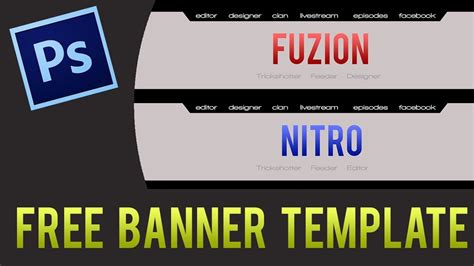Clean Youtube Banner Template Free Download Psd Youtube Hp Banner Paper Template
