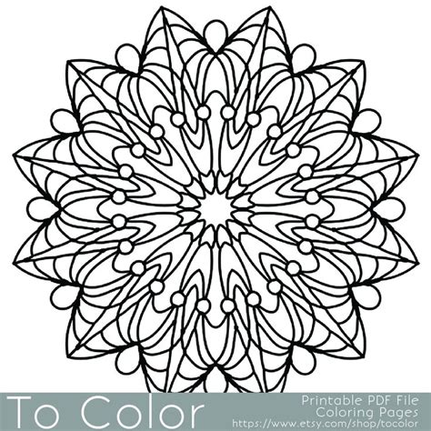 mandala coloring book pens simple printable coloring pages for adults gel pens