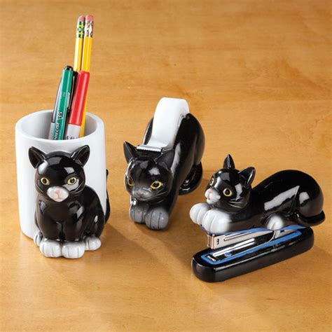 cat desk accessories set of 3 office accessories