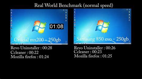 crucial mx  samsung  evo real world performance