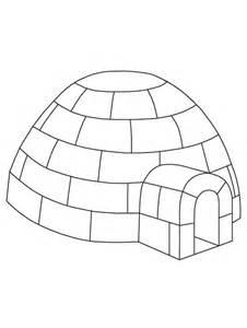 igloo coloring page igloo coloring page free printable igloo coloring page