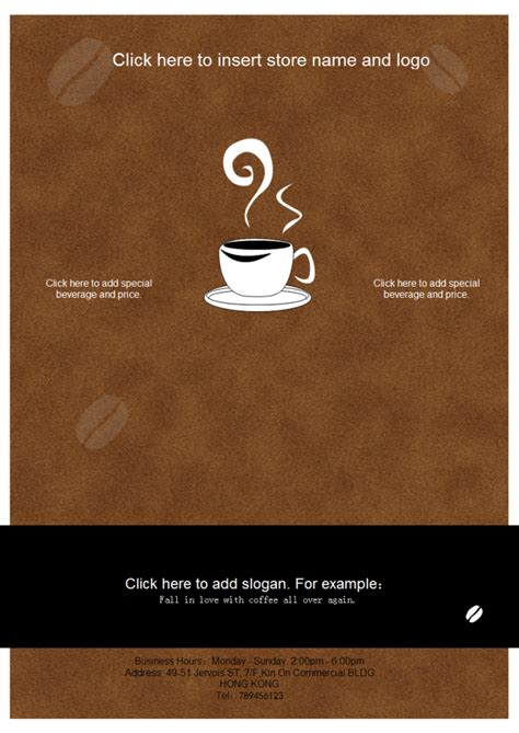 Design Your Own Home Online Free Download Coffee Shop Leaflet Free Coffee Shop Leaflet Templates
