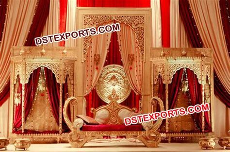 Mughal themed wedding stage Decor