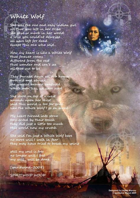native american poems   White Wolf] Native American Posters with Original Poems and book for