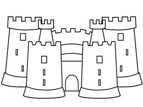 Castle Colouring Page  sketch template
