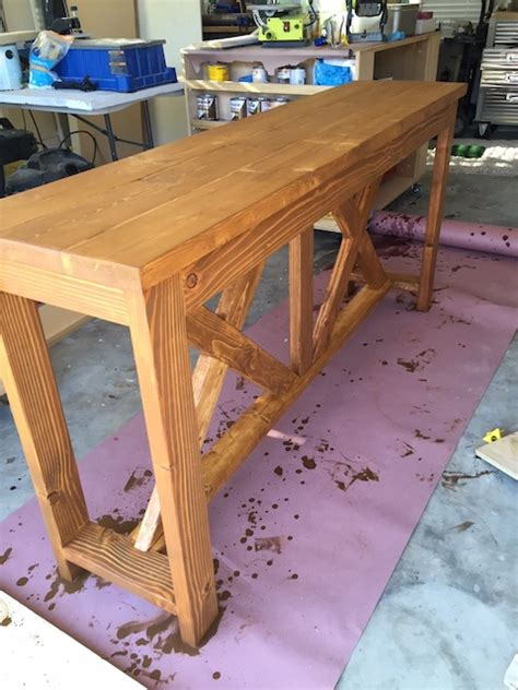 X Brace Console Table Diy X Brace Console Table Free Plans Rogue Engineer