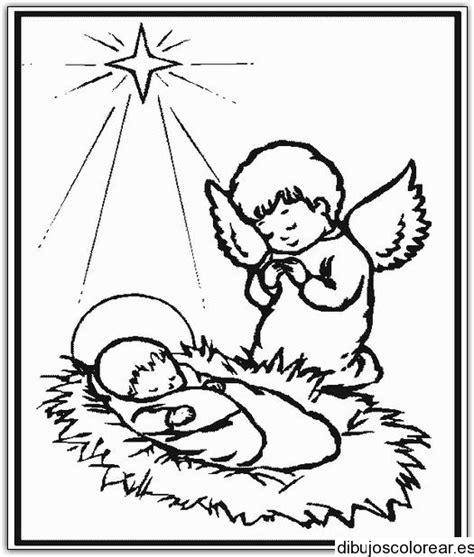 imagenes de jesus bebe para colorear dibujo del ni 241 o jes 250 s y un 225 ngel