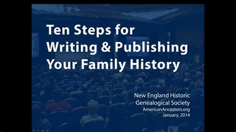 publish your family history without being overwhelmed