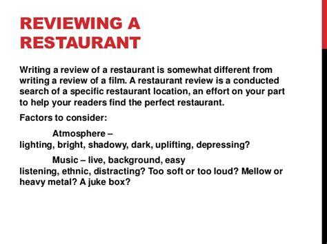 journalism writing reviews