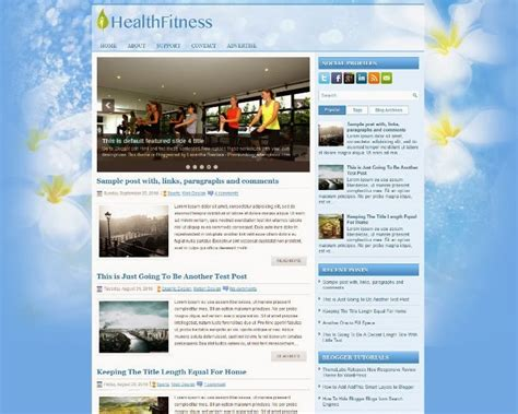 medical templates for blogger 20 free blogger templates for health webprecis