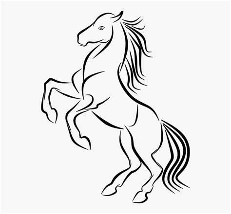 gambar kuda hitam putih keren hd png  kindpng
