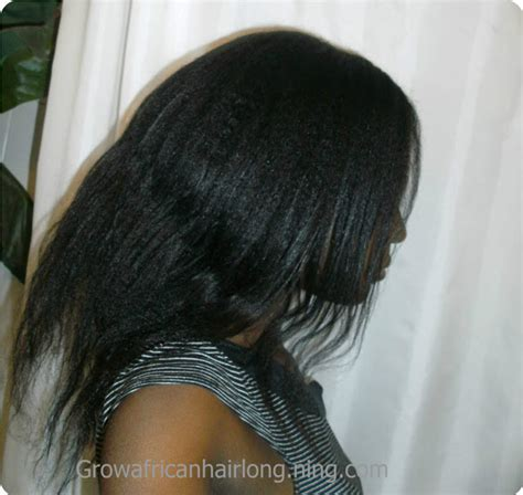 texlaxed hair and matting shrinkage air drying 12 weeks post relaxer texlax grow african