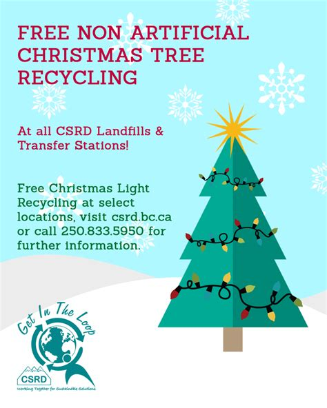 free christmas tree recycling columbia shuswap regional